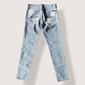7 For All Mankind Mildly Distressed Grey Roxanne Jeans - 27